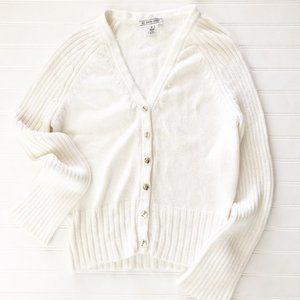 St. John Sport Knit Vintage Cotton Cardigan Jacket
